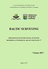 Baltic surveying: proceedings / International Scientific Conference of Agriculture Universities of Baltic States. ISSN 2243-5999 (print). ISSN 2243-6944 (online).