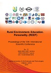 Rural environment. Education. Personality (REEP). (2019) : proceedings of the 12th International Scientific Conference / Latvia University of Life Sciences and Technologies. Faculty of Engineering. Institute of Education and Home Economics. Jelgava : Latvia University of Life Sciences and Technologies, 2019. - 317. pages. ISSN 2661-5207. ISBN 978-9984-48-319-1. DOI: 10.22616/REEP.2019.