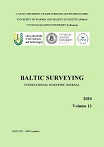 Baltic Surveying: international scientific journal / Latvia University of Life Sciences and Technologies (Latvia), University of Warmia and Mazury in Olsztyn (Poland), Vytautas Magnus University (Lithuania). 2020, Vol. 13., 69 pages. ISSN 2255-999X. DOI: 10.22616/j.balticsurveying