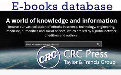 Taylor & Francis Group CRC Press e-books database.